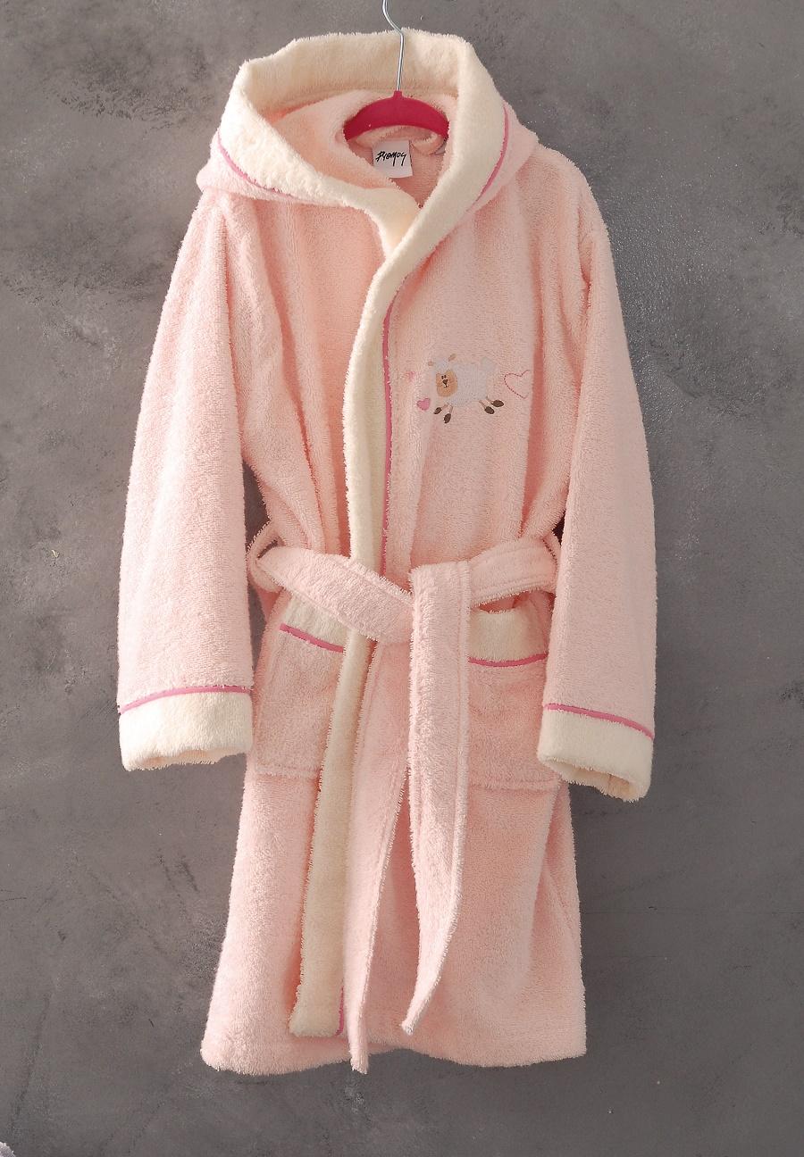 Μπουρνούζι παιδικό με κουκούλα SOUZI, RYTHMOS HOME (Ροζ, 5-6) παιδικα   παιδικά μπουρνούζια