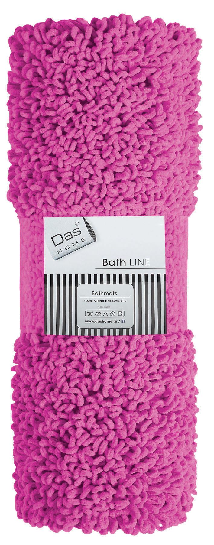 Πατάκια μπάνιου μονόχρωμα 2 διαστάσεων Bathmats Colours 474, Das Home (Φούξια, 5