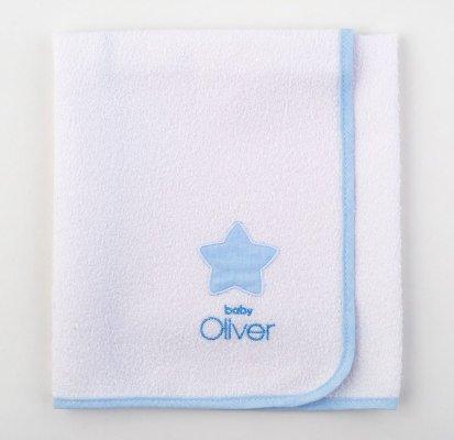 Σελτεδάκι με κέντημα LITTLE BLUE JOY, BABY OLIVER (Γαλάζιο, 50Χ70) προικα μωρου   βρεφικά σελτεδάκια