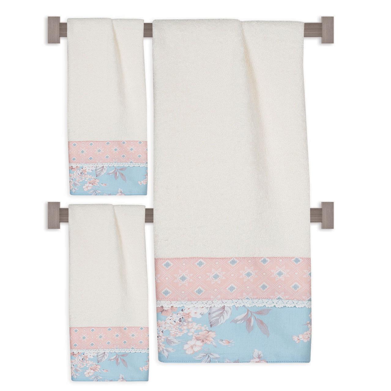 Σετ πετσέτες Prestige Towels Embroidery 276, Das Home (Λευκό, ΣΕΤ 3 ΤΕΜ) last items   μπάνιο