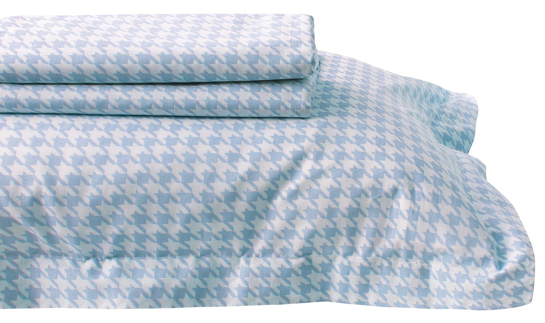 Σεντόνι υπέρδιπλο Simple Line Prints 7208, Das Home (Γαλάζιο, 230Χ260) υπνοδωματιο   σεντόνια   σεντόνια μεμονωμένα υπέρδιπλα