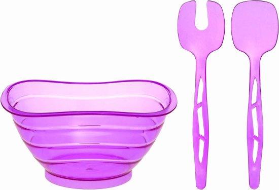 Σαλατιέρα με κουτάλες ASD080/P, HOME DESIGN (Μοβ, ΣΕΤ 3 ΤΕΜ) κουζινα   οικιακός εξοπλισμός   σαλατιέρες