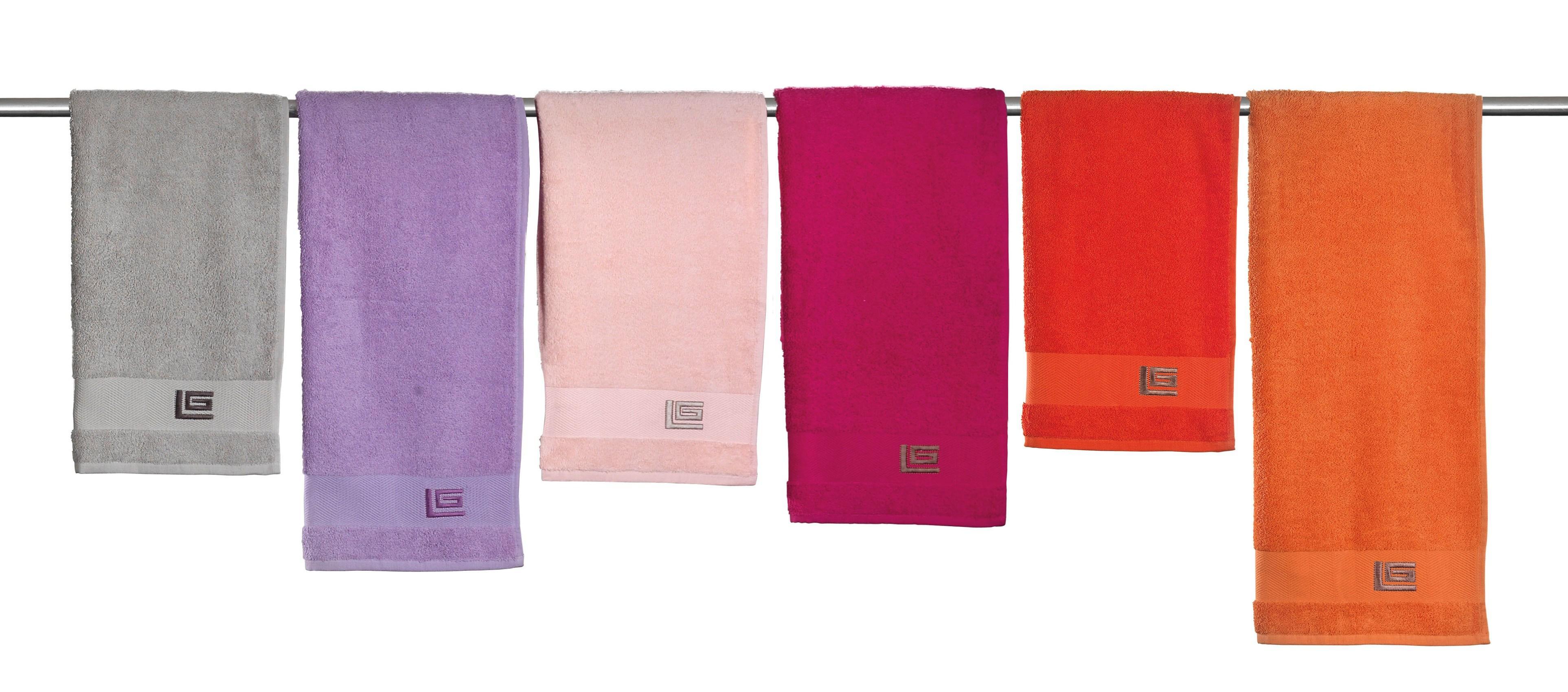 Πετσέτες μονόχρωμες μεμονωμένες REGINA Guy Laroche (Πορτοκαλί, Προσώπου) last items   μπάνιο