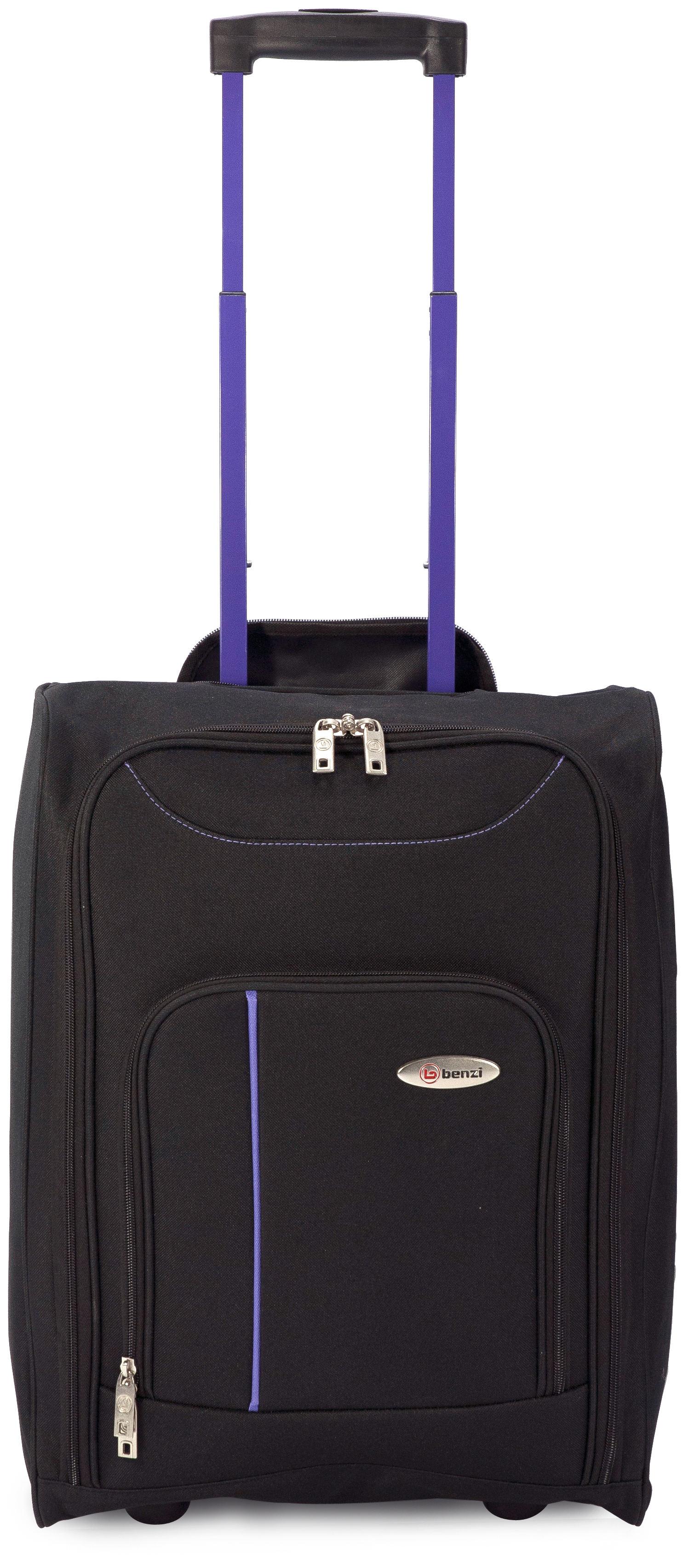 Βαλίτσα καμπίνας 4891 BLACK/PURPLE, BENZI εποχιακα ειδη   είδη ταξιδιού   βαλίτσες