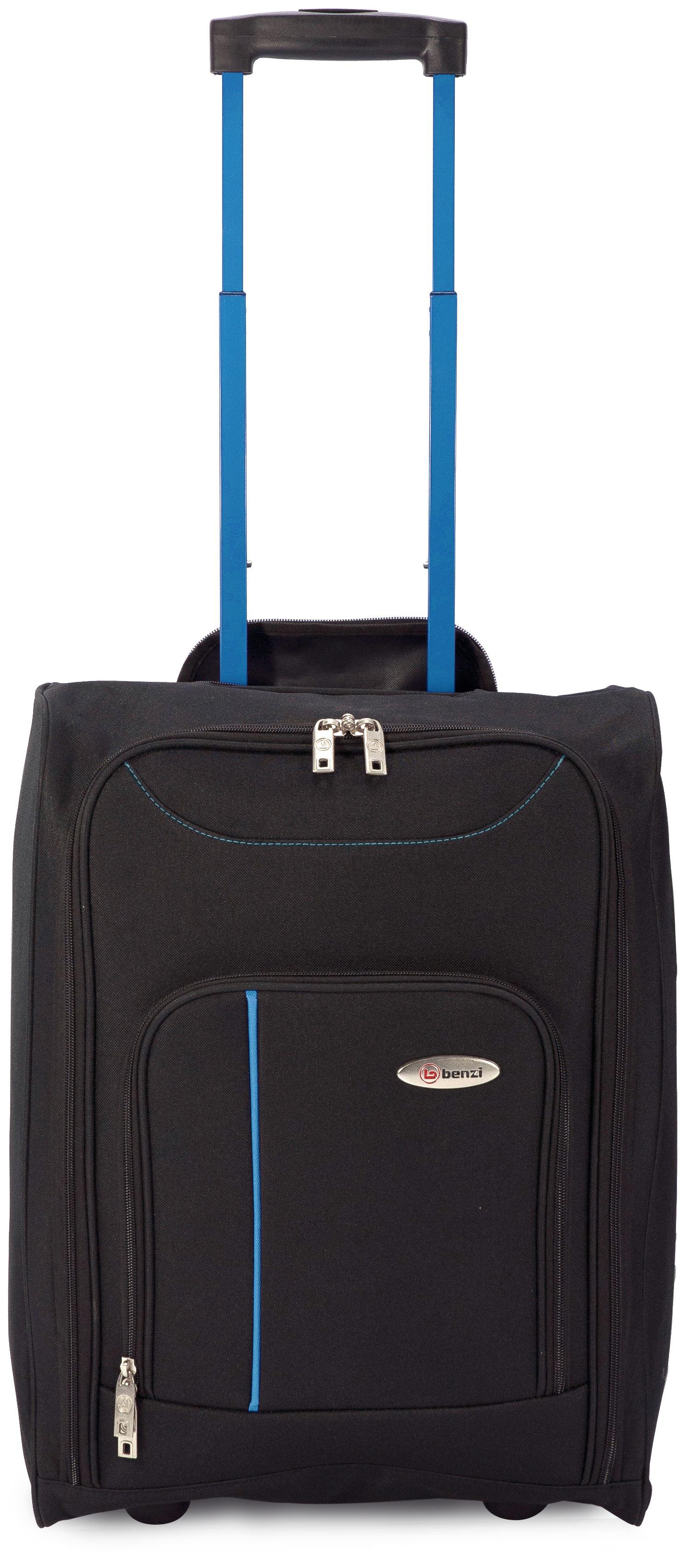 Βαλίτσα καμπίνας 4891 BLACK/BLUE, BENZI εποχιακα ειδη   είδη ταξιδιού   βαλίτσες