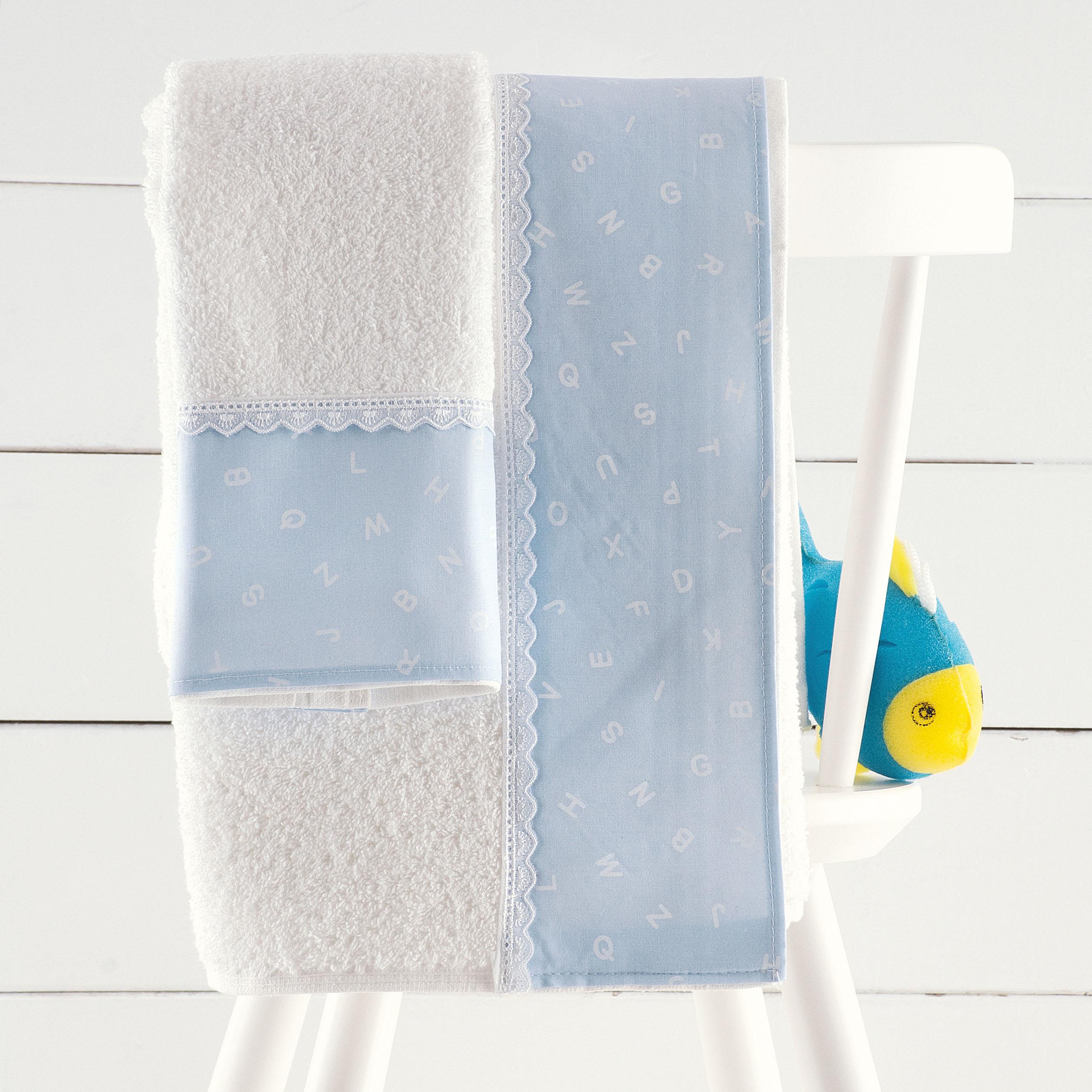 Σετ παιδικές πετσέτες 2 τεμ. LETTERS CIEL, RYTHMOS HOME παιδικα   πετσέτες παιδικές