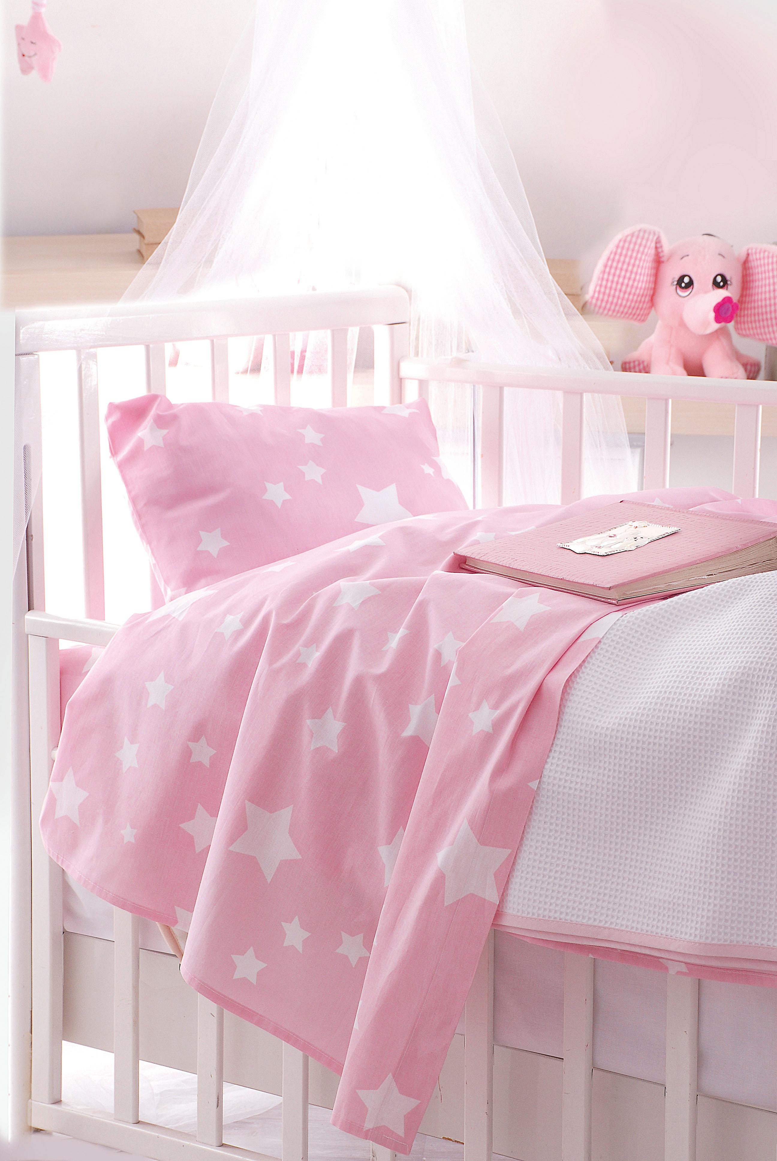 Πάπλωμα bebe STARDUST PINK, RYTHMOS HOME προικα μωρου   βρεφικά παπλώματα