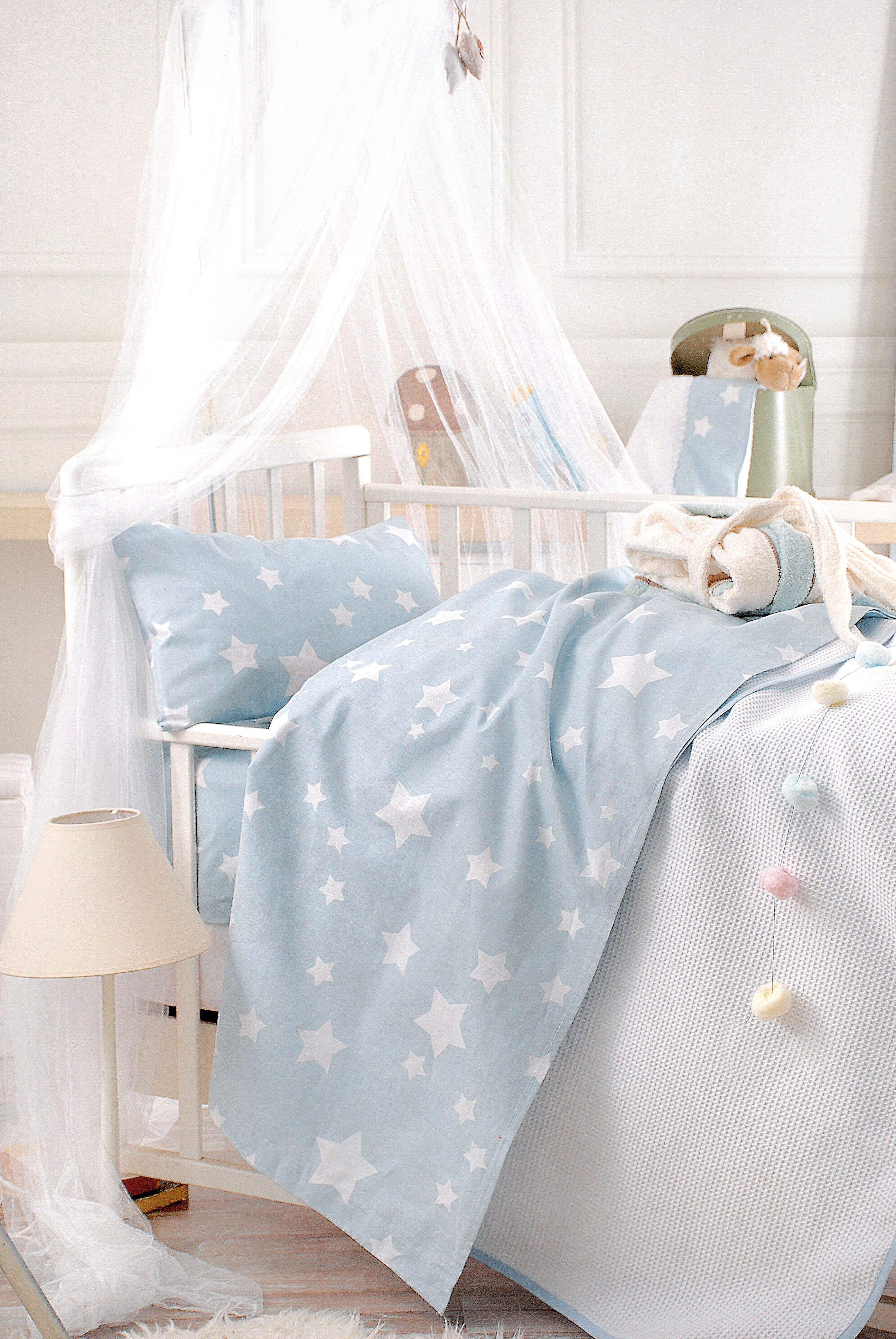Πάπλωμα bebe STARDUST CIEL, RYTHMOS HOME προικα μωρου   βρεφικά παπλώματα