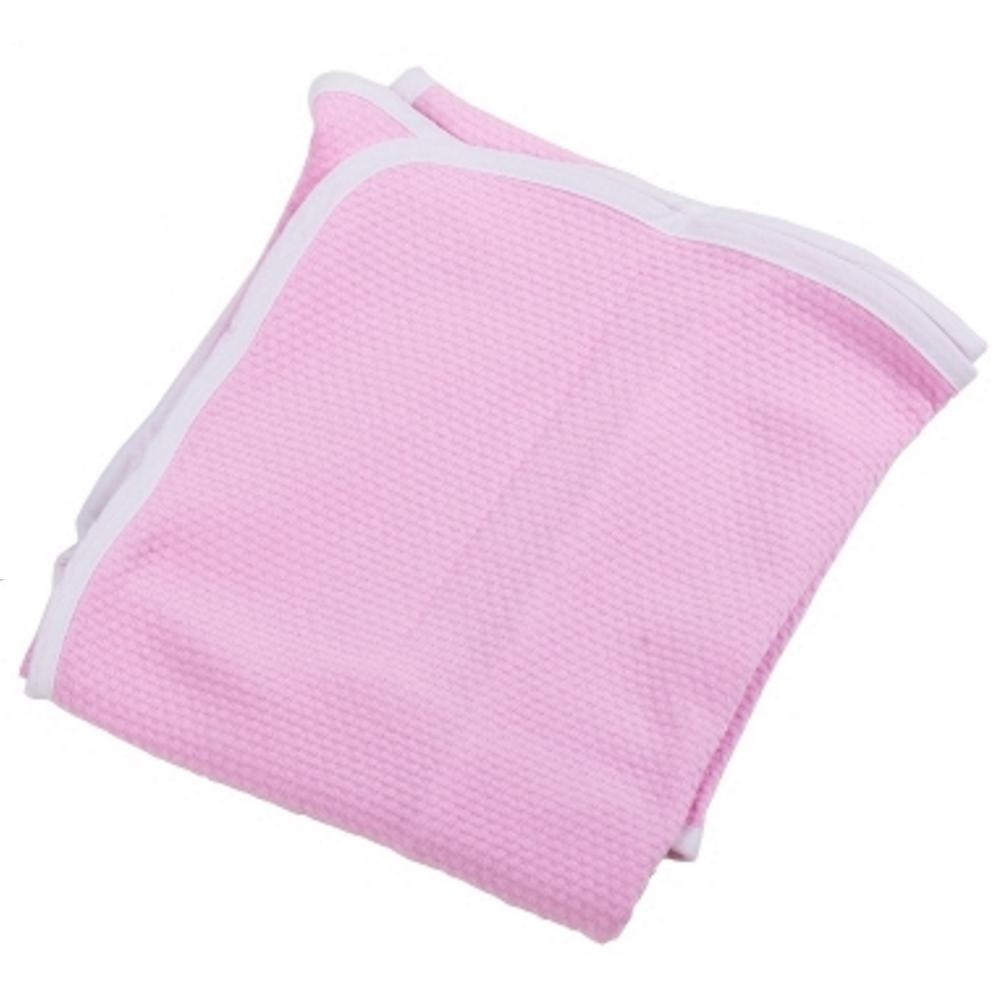 Κουβέρτα πικέ αγκαλιάς ροζ με ρέλι λευκό (80Χ80), Ο ΚΟΣΜΟΣ ΤΟΥ ΜΩΡΟΥ προικα μωρου   βρεφικές κουβέρτες   πικέ κουβέρτες
