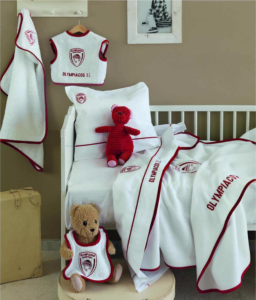 Σετ λουτρού bebe 3 τεμ. OLYMPIACOS, PALAMAIKI προικα μωρου   βρεφικές πετσέτες